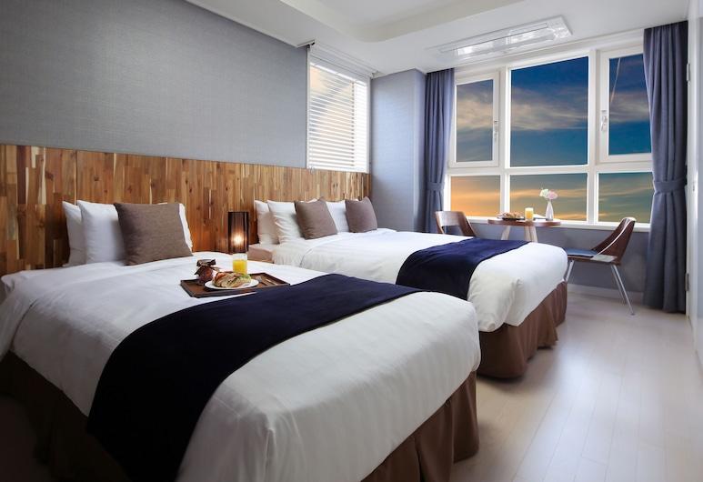 新村愛威爾 8 服務公寓飯店, 首爾, 豪華雙人房, 2 張單人床, 客房