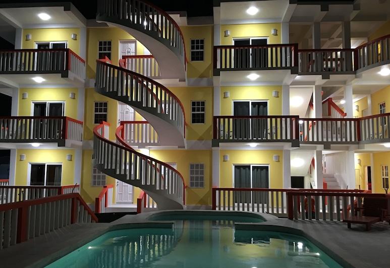 La Isla Resort, Caye Caulker, Superior sviit, 1 magamistoaga, vaade rannale, Terrass