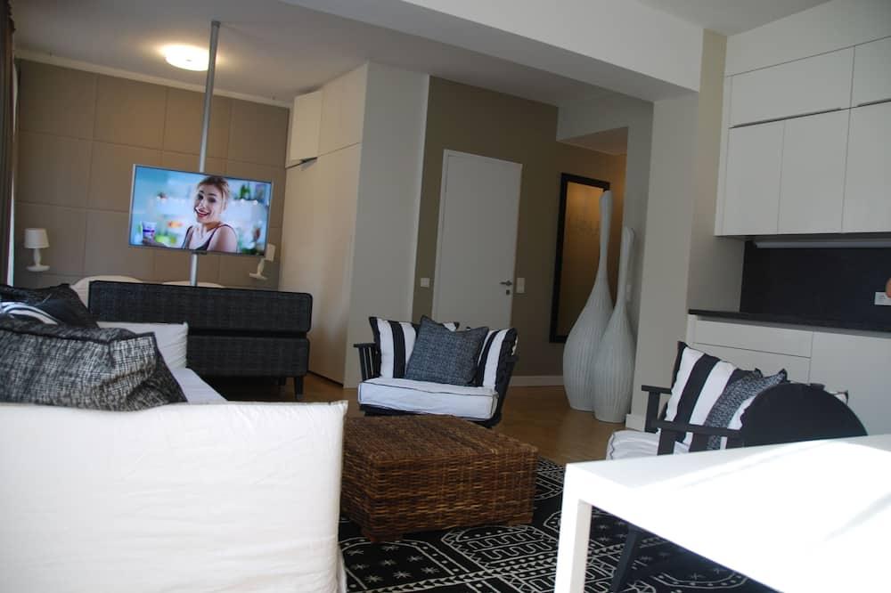 Lejlighed - 1 soveværelse - køkken (CleaningFee at CheckIn) - Stue