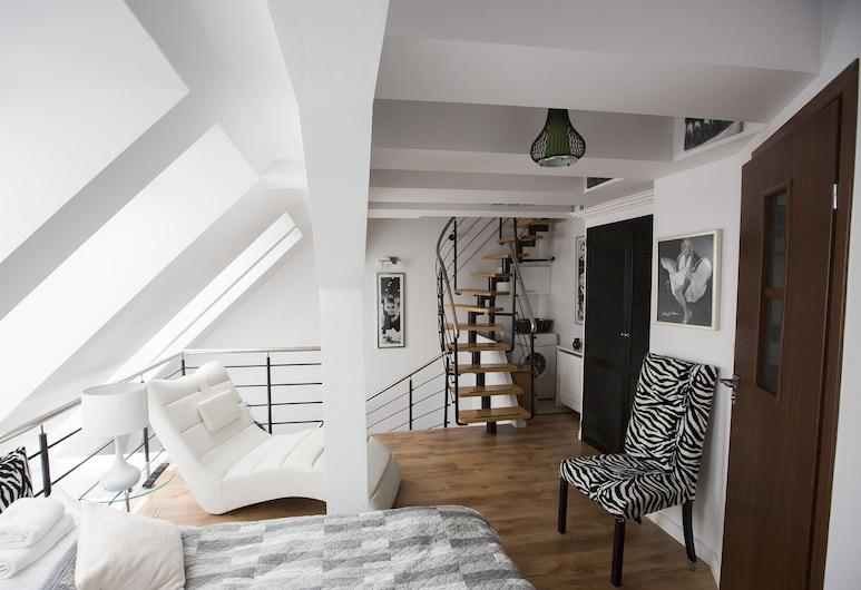 Luksus Apartamenty Mariacka, Szczecin, Íbúð, 2 svefnherbergi, Stofa