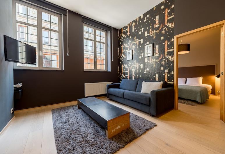 Smartflats City - Brusselian, Bruxelas, Apartamento, 1 Quarto (4 adults), Sala de Estar