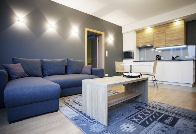 Silver Apartments, Wroclaw, Apartment, 1 Bedroom, Living Area