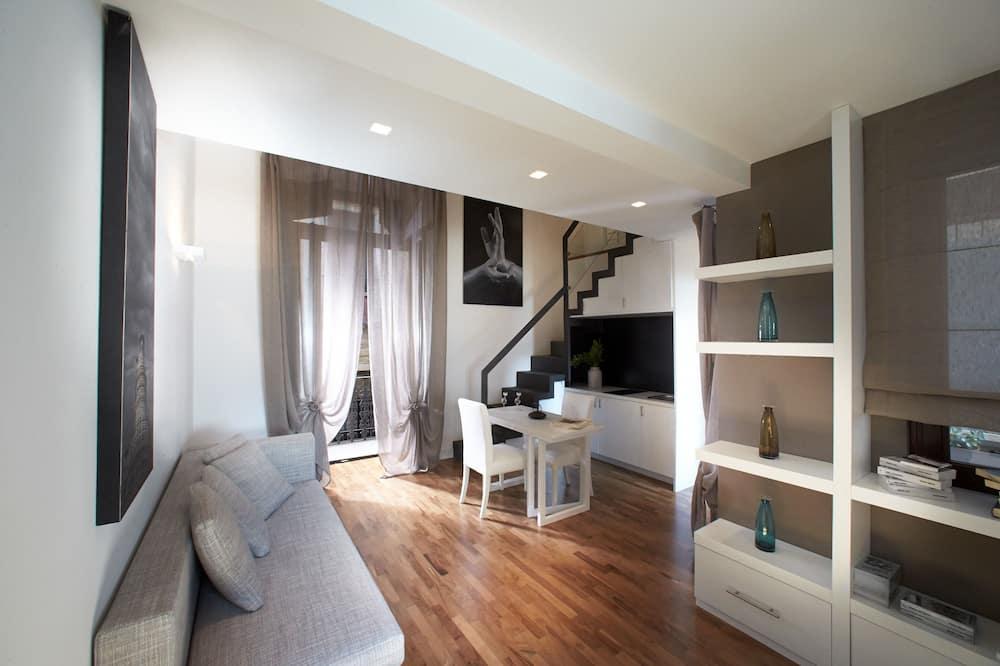 Departamento Confort, terraza - Sala de estar