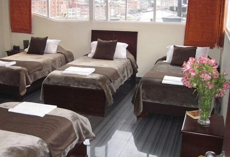 Hotel Galeria Real, Bogotá, Neljän hengen huone, Vierashuone