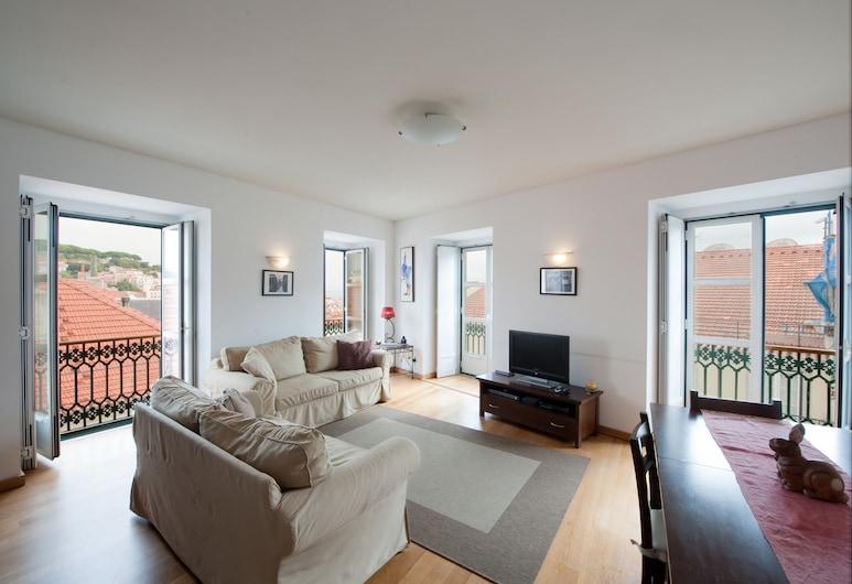 Chiado Apartments, Λισσαβώνα, Διαμέρισμα, 2 Υπνοδωμάτια, Θέα στο Ποτάμι (Rua Garrett, 26), Καθιστικό