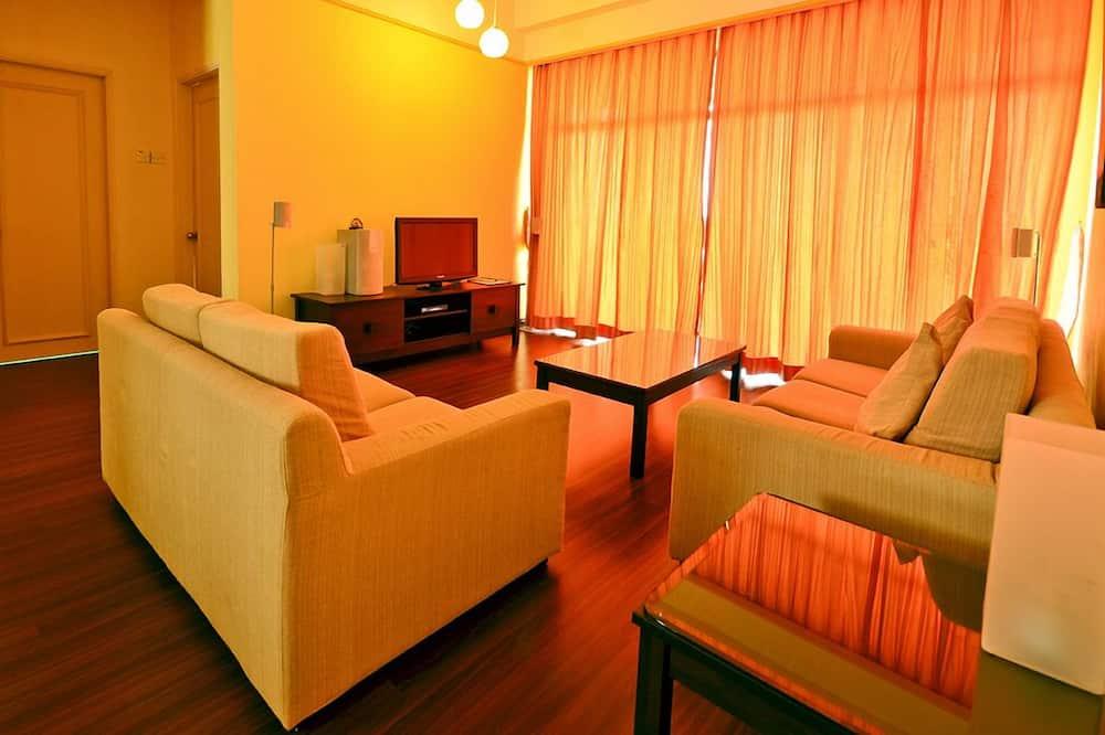 Apartmán, 3 spálne, nefajčiarska izba, výhľad na mesto - Obývačka
