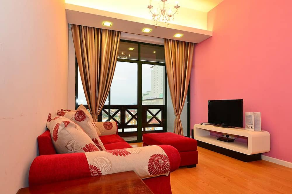 Apartmán, 2 spálne, nefajčiarska izba, výhľad na mesto - Obývačka