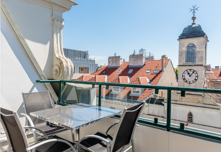 Duschel Apartments City Center, Wenen, Penthouse, 3 slaapkamers, 2 badkamers, Uitzicht op de stad (Kärtnerstrasse 28), Balkon