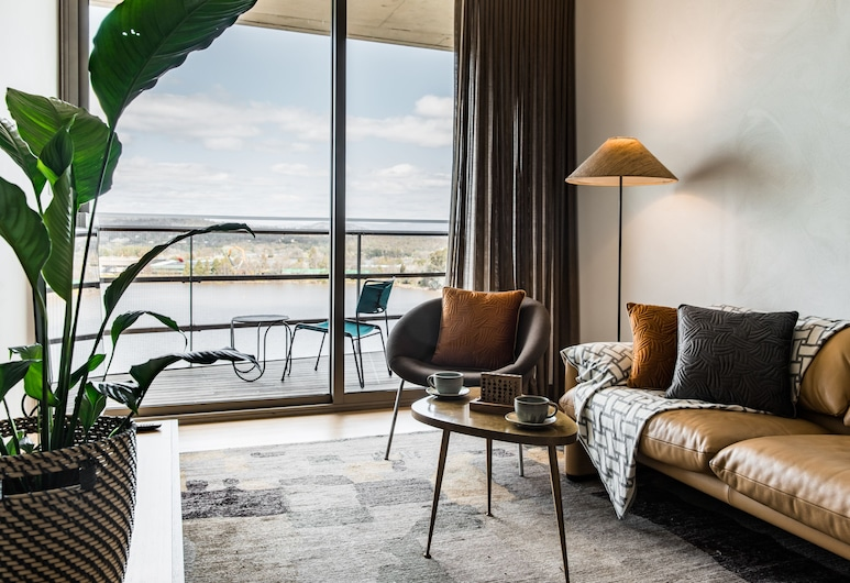 Nishi Apartments Eco Living By Ovolo, Canberra, Nishi 2 Bedroom Deluxe Apartment, Living Area