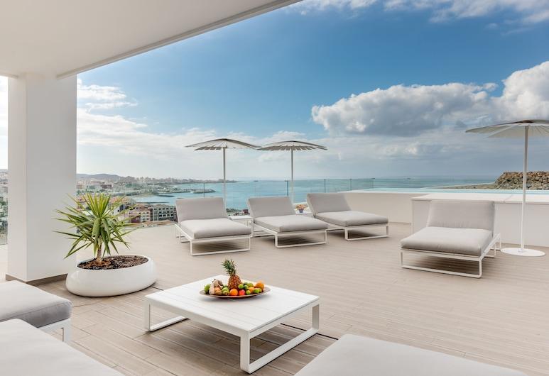 Hotel Baobab Suites, Адехе, Номер-люкс, 4 спальні, приватний басейн, з видом на море (Infinity Euphoria, Jacuzzi), Тераса/внутрішній дворик