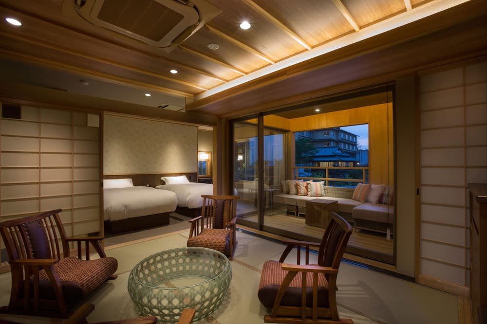 Japanese Western style room A with Open-air Bath(Annex)  - Living Area