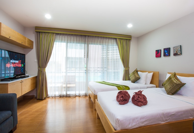 Double D Boutique Residence, Pattaya, Deluxe Twin Bed, Guest Room