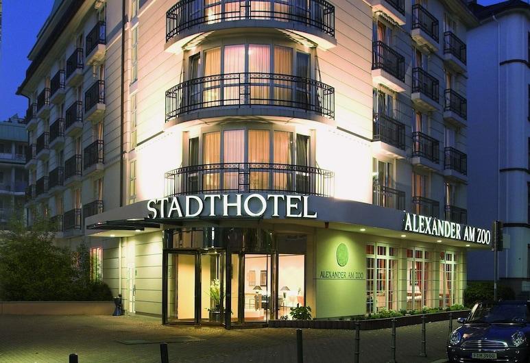 Hotel Alexander am Zoo, Francoforte, Facciata hotel (sera/notte)