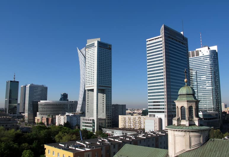 Centre Apartamenty Warszawa, Варшава, Вид из объекта
