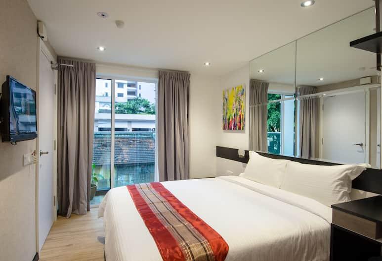 12FLY Hotel, Kuala Lumpur, Kamar Double, balkon, Kamar Tamu