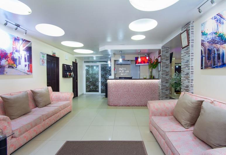 Hotel Marina Suites, Cartagena, Sitzecke in der Lobby