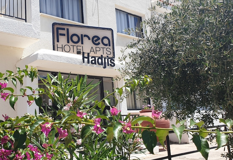Florea Hotel Apartments, Aijanapa, Naktsmītnes ieeja
