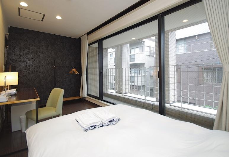 Oak Hostel Zen, Tokio, Pokój dwuosobowy, wspólna łazienka, Pokój