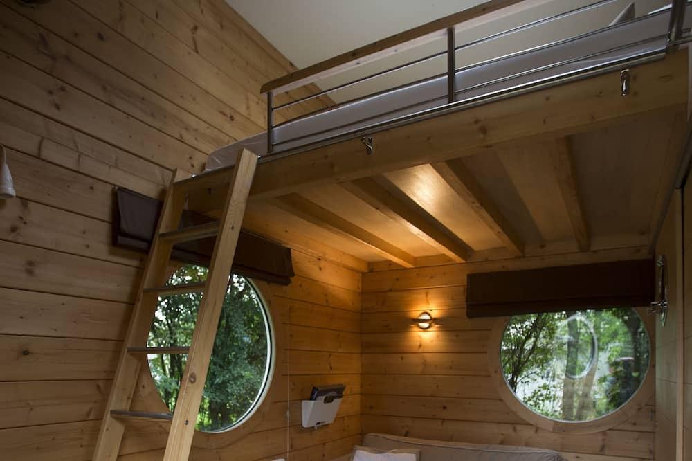 Chalet romántico, 1 cama doble, vista al parque, con vista al jardín (Star Cube home ) - Sala de estar