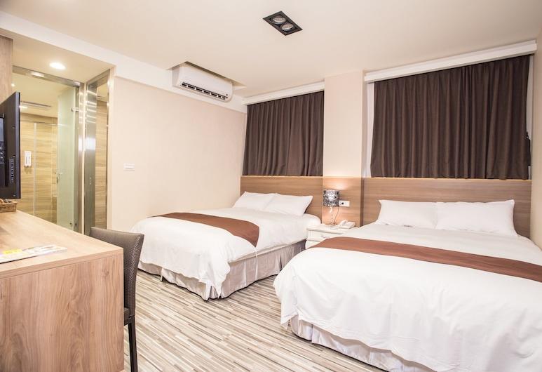 玫瑰精品旅館站前館, 台北市, 豪華四人房, 2 張標準雙人床, 客房