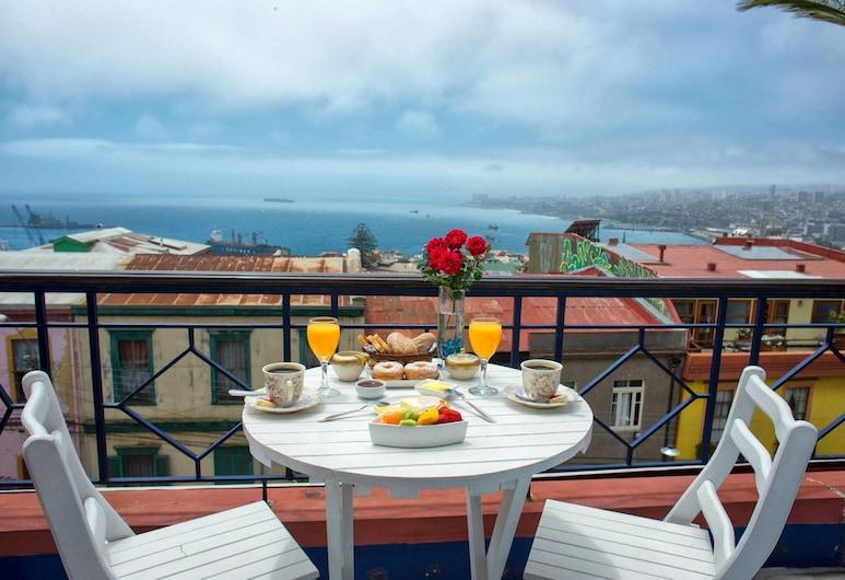 Thomas Somerscales Hotel Boutique, Valparaíso, Habitación doble, balcón, vista al mar, Balcón