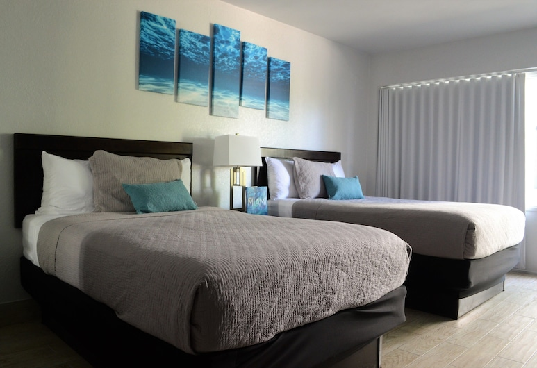 UP MIDTOWN HOTEL, Miami, Deluxe Double Room, 2 Double Beds, Guest Room