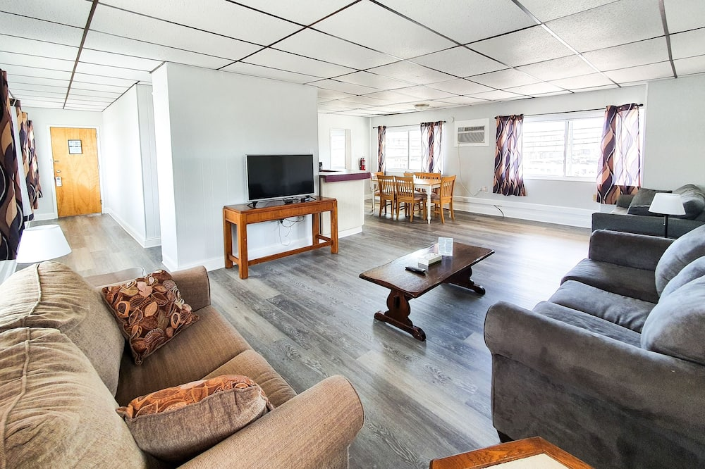 Appartement, 1 chambre, cuisine, vue partielle sur l'océan - Salle de séjour