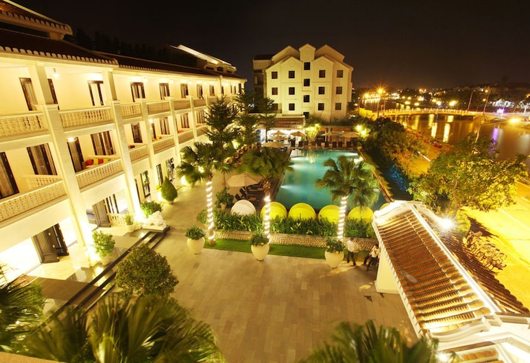Thanh Binh Riverside Hotel, Hoi An, Hotel Front – Evening/Night