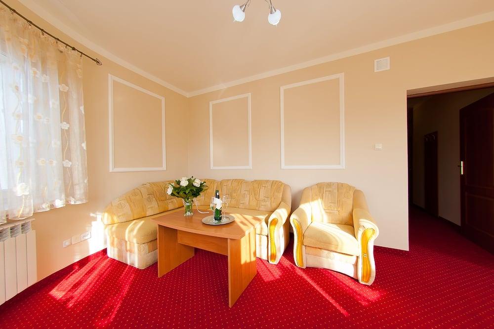 Executive suite, Balkon - Woonkamer