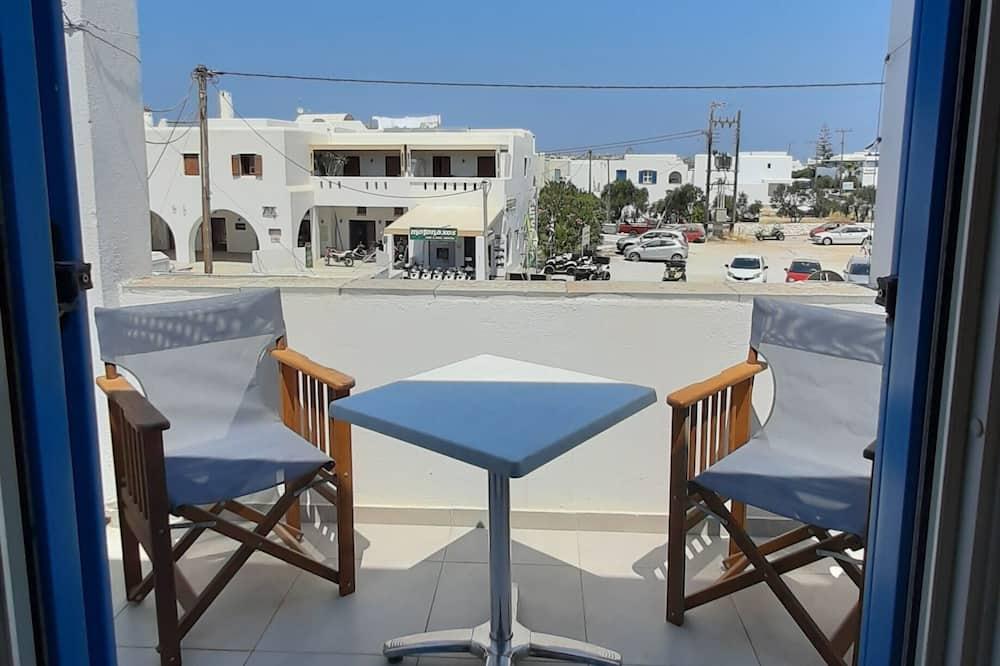 Studio, 1 chambre, coin cuisine, vue partielle sur la mer - Balcon