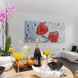 Apartamento de Luxo, 2 Quartos, Cozinha (No. 4) - Área de Estar