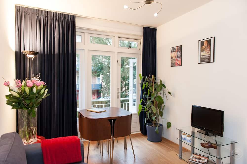 Departamento, 1 habitación, balcón, vista a la ciudad (Baetostraat) - Sala de estar