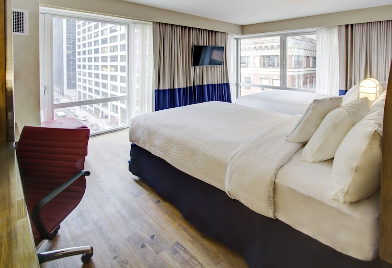 Fairfield Inn New York Manhattan/Financial District, New York, Kamer, 2 eenpersoonsbedden, Kamer