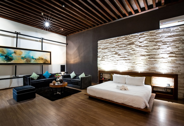 Mesón de Santa Rosa Luxury Hotel, Queretaro, Master Suite, King bed, Oda