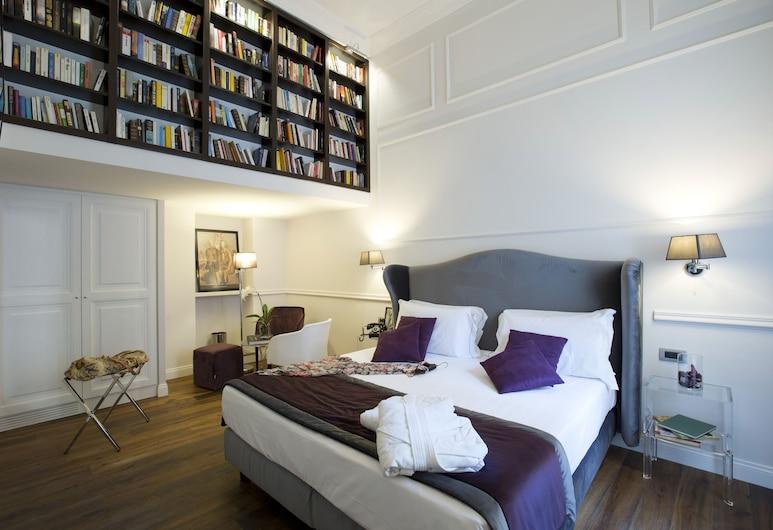 Relais Leone, רומא, חדר דה-לוקס לשלושה, מרפסת, חדר אורחים