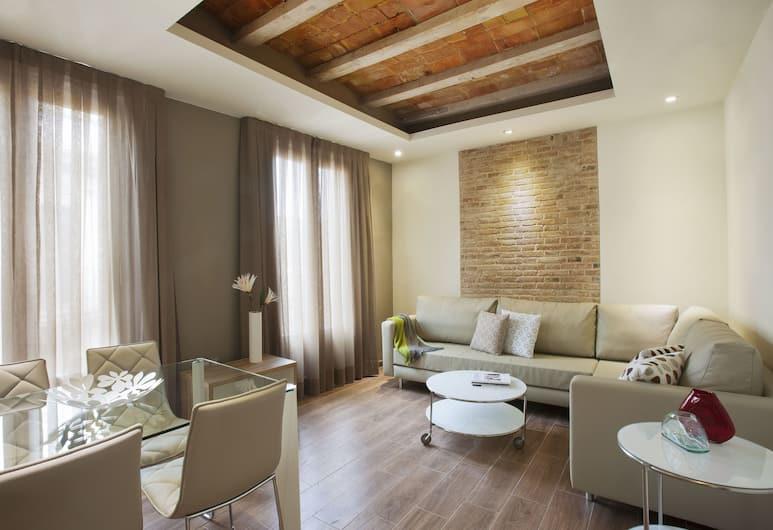 Milà Apartamentos Barcelona, Barcelona, Deluxe Apartment, 2 Bedrooms, Bilik Rehat