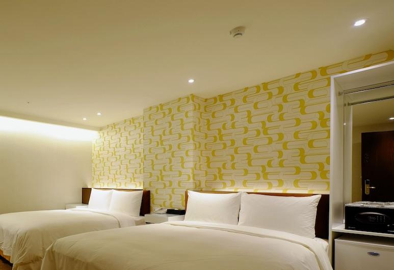 Hotel Puri Taipei Station Branch, Taipei, Pokój rodzinny, 2 łóżka podwójne, dla niepalących, bez okien, Pokój