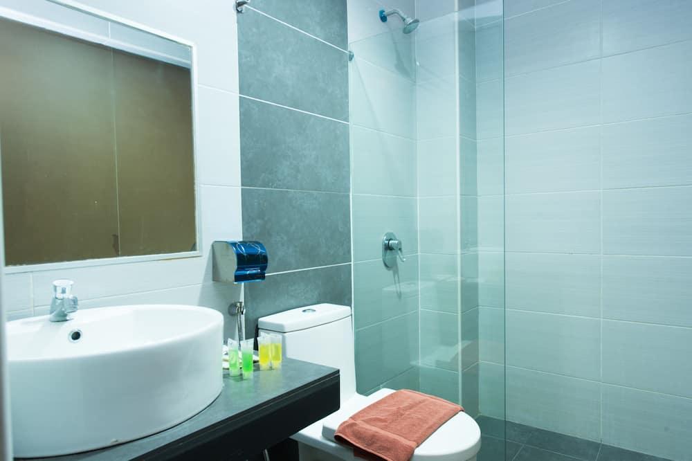 Standard-Einzelzimmer, 1Einzelbett, eigenes Bad - Badezimmer