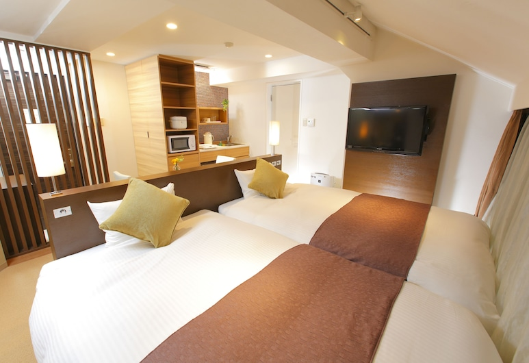 Flexstay Inn Iidabashi, Tokyo, Deluxe Twin Room, Non Smoking (No elevator), Private kitchenette