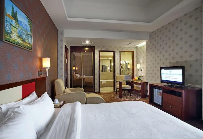 Hanyong Hotel Shajing, Shenzhen, Улучшенный двухместный номер с 1 двуспальной кроватью, Номер