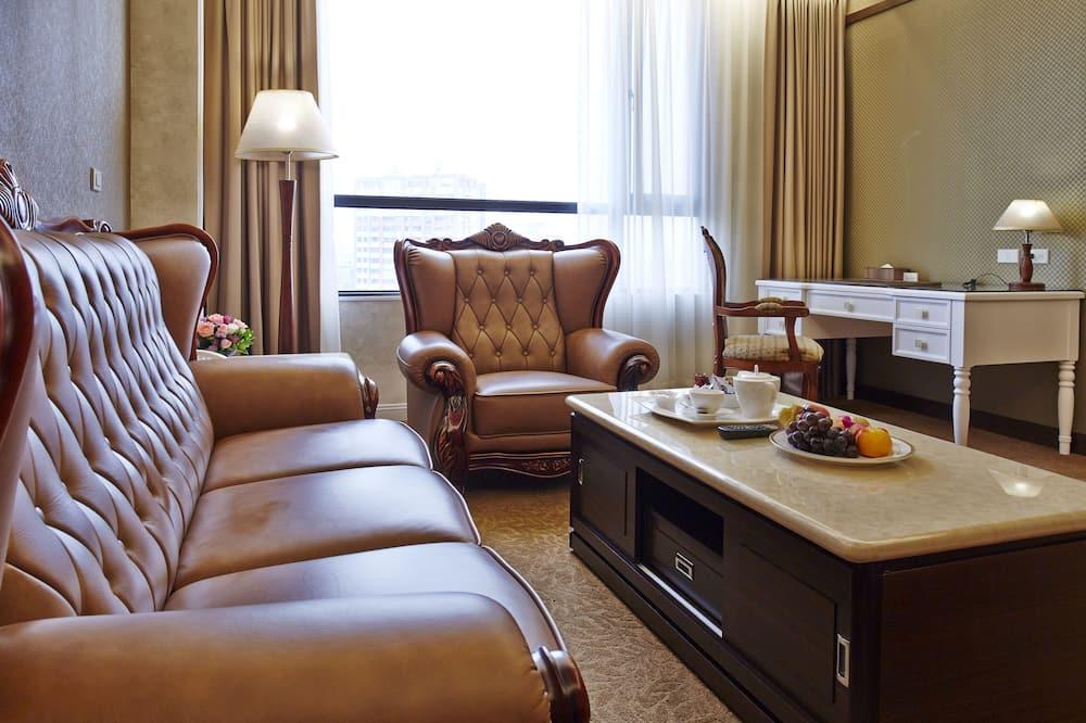 Premium soba, 1 queen size krevet, pogled na grad, Tower - viši kat - Dnevni boravak