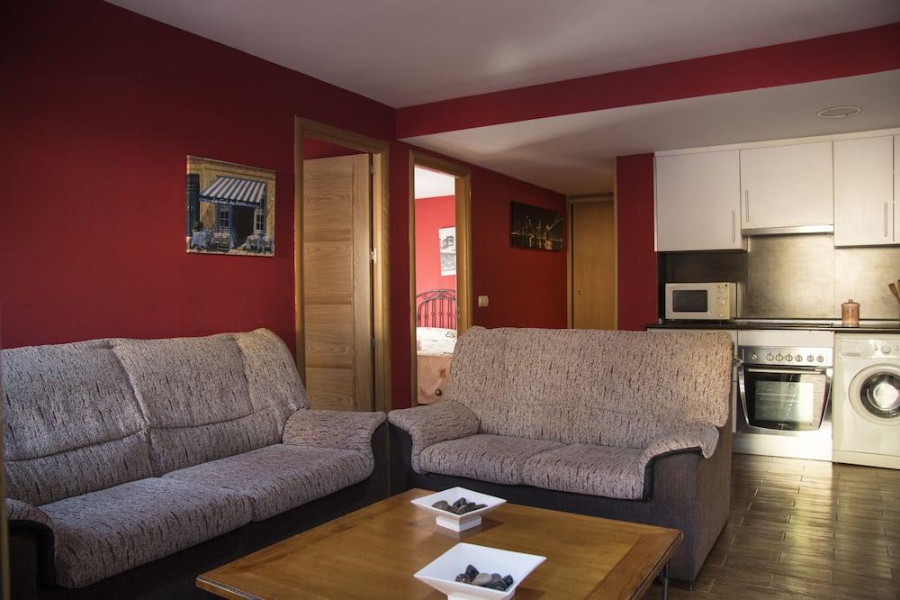 Departamento Deluxe, 2 habitaciones, vista a la montaña, junto a la montaña - Sala de estar