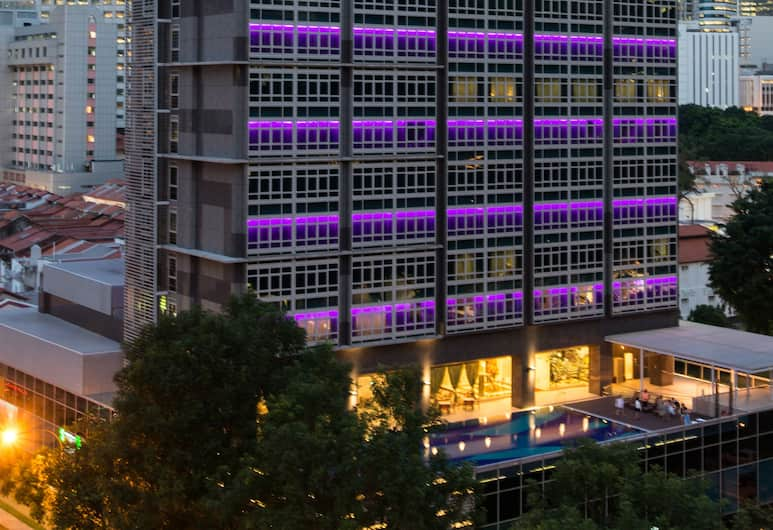 Orchid Hotel, Singapore, Hotel Front – Evening/Night