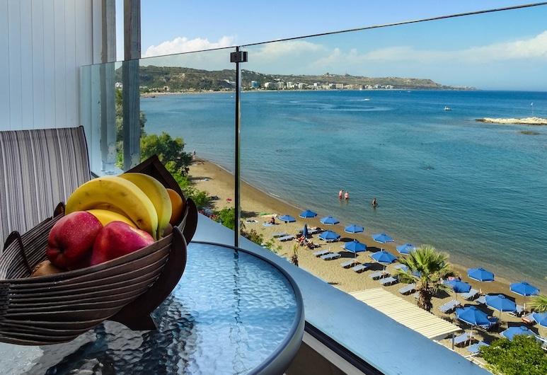 Lido Star Beach, Rodas, Prabangaus stiliaus kambarys, vaizdas į jūrą, Svečių kambarys