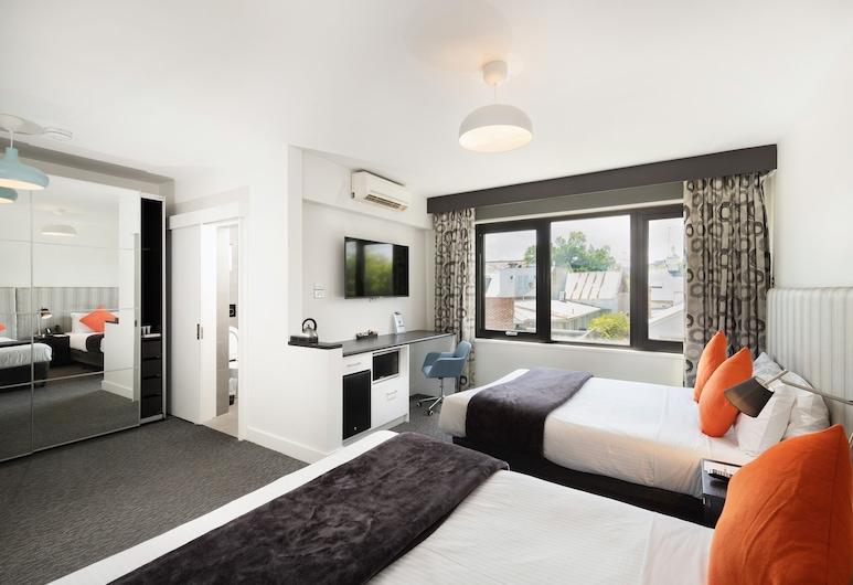 Comfort Hotel East Melbourne, Ist Melburnas, Liukso klasės numeris, 2 didelės dvigulės lovos, Svečių kambarys