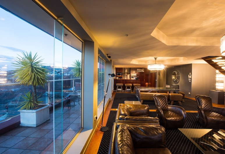 Sullivans Cove Apartments, Hobart, Four Bedroom Penthouse - Brooke St, Living Area