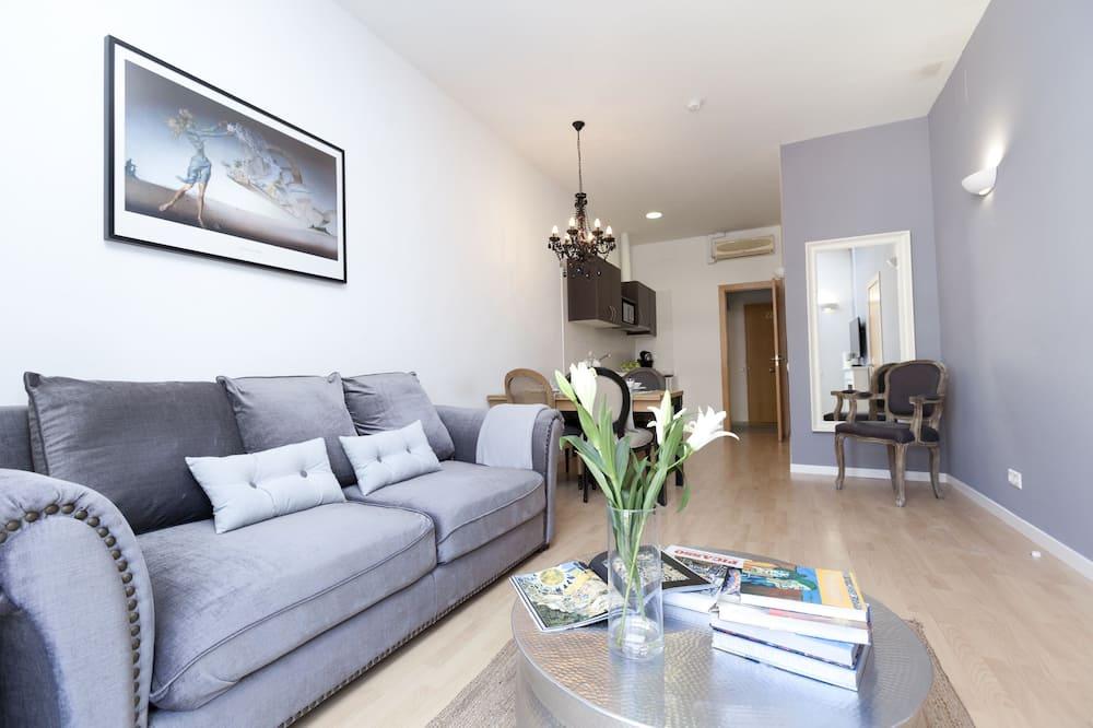 Appartement Supérieur, 2 chambres, terrasse - Coin séjour