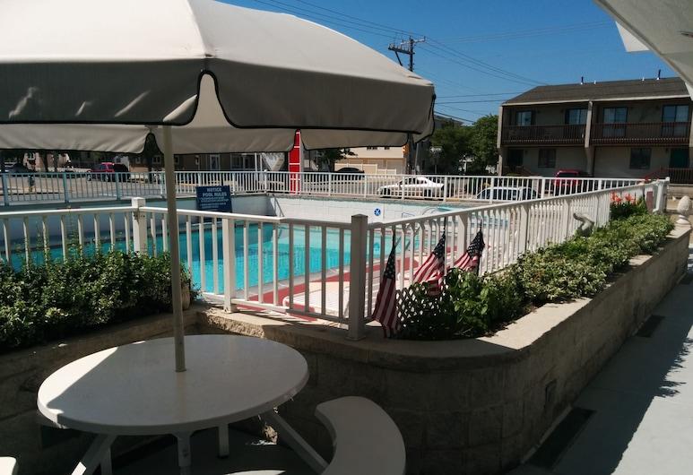 Pink Champagne Motel, Wildwood, Terasa / vidinis kiemas