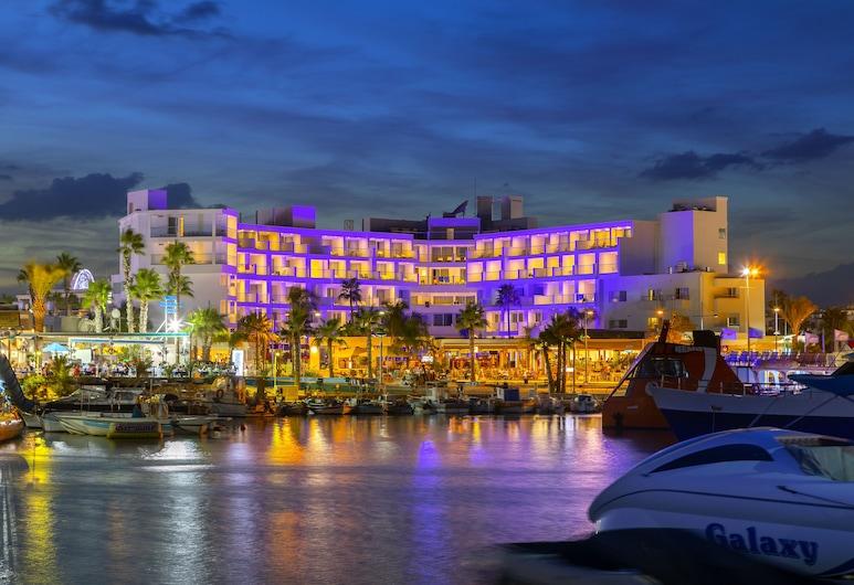 Limanaki Beach Hotel, Ayia Napa, Hotel Front – Evening/Night