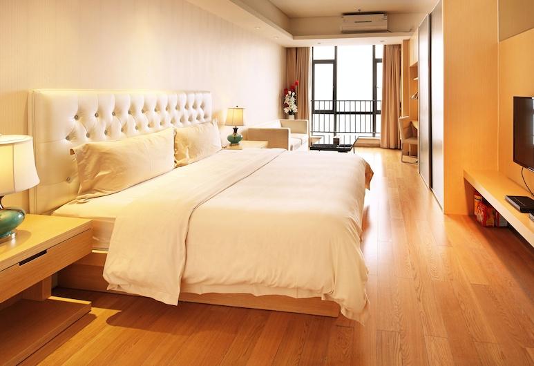 Hopson Ya Ju Apartment Guangzhou Hopson Plaza Branch, Guangzhou, Deluxe soba, 1 king size krevet, Pogled iz sobe